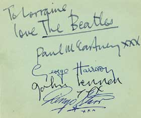 BEATLES ALL MEMBER´s Autographs